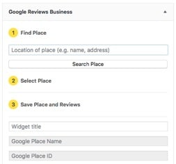 Find Google Place ID in Google Reviews Business Plugin WordPress