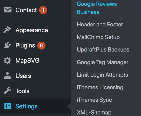 Google Reviews Business WordPress Plugin in Settings