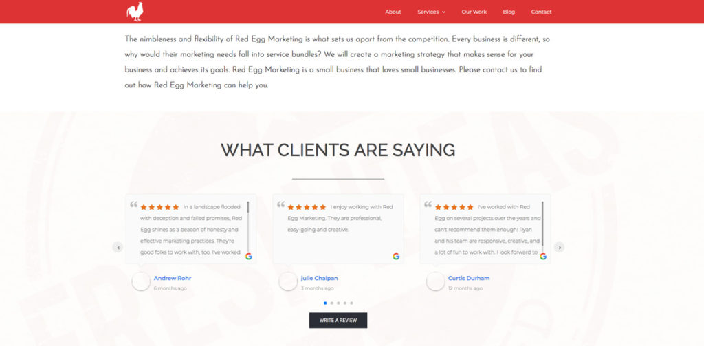 Google Reviews Business Shortcode Review Slider Example