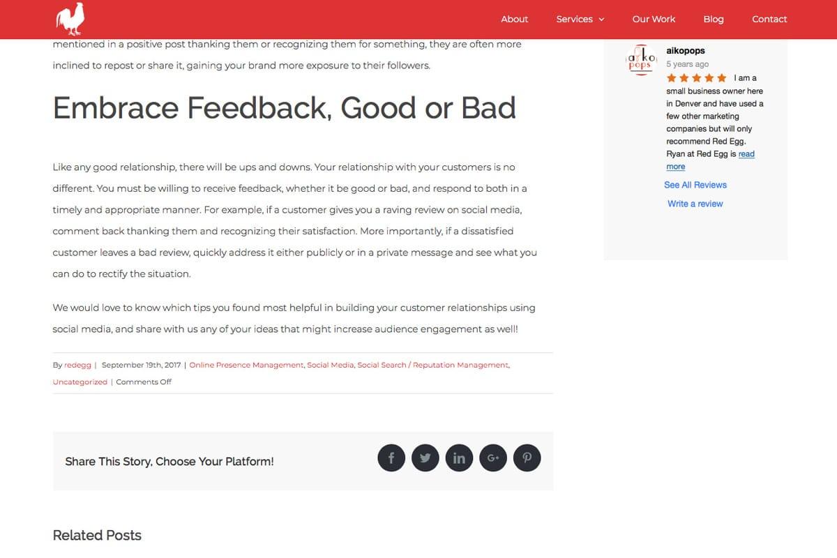 Google Reviews WordPress Website Character Limit Example 1