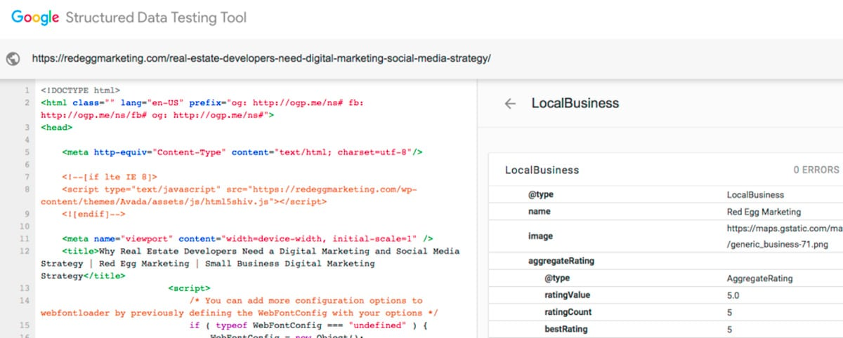 Structured Data Rich Snippets Schema.org Structured Data Testing Tool Example