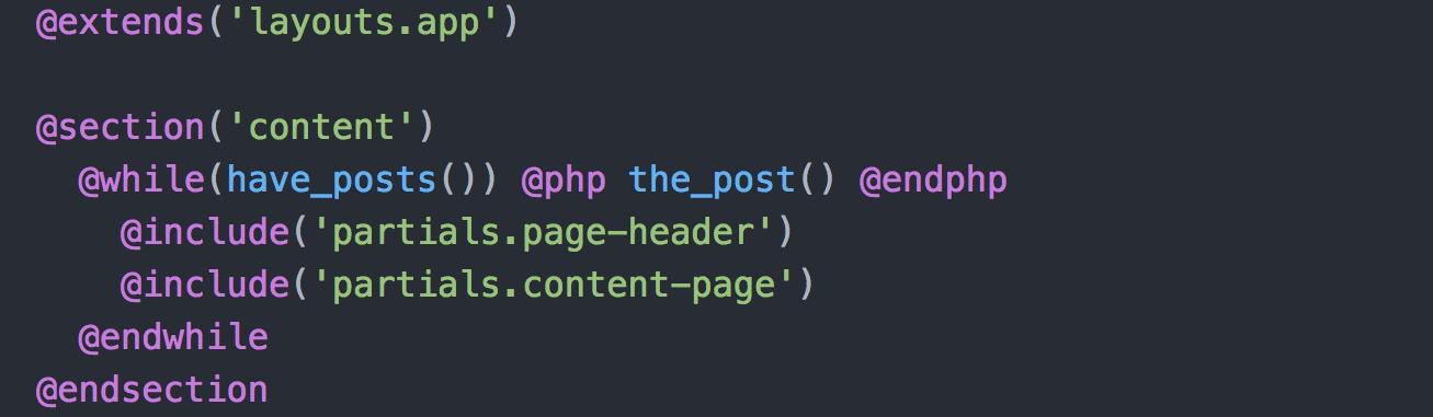 default Sage page template